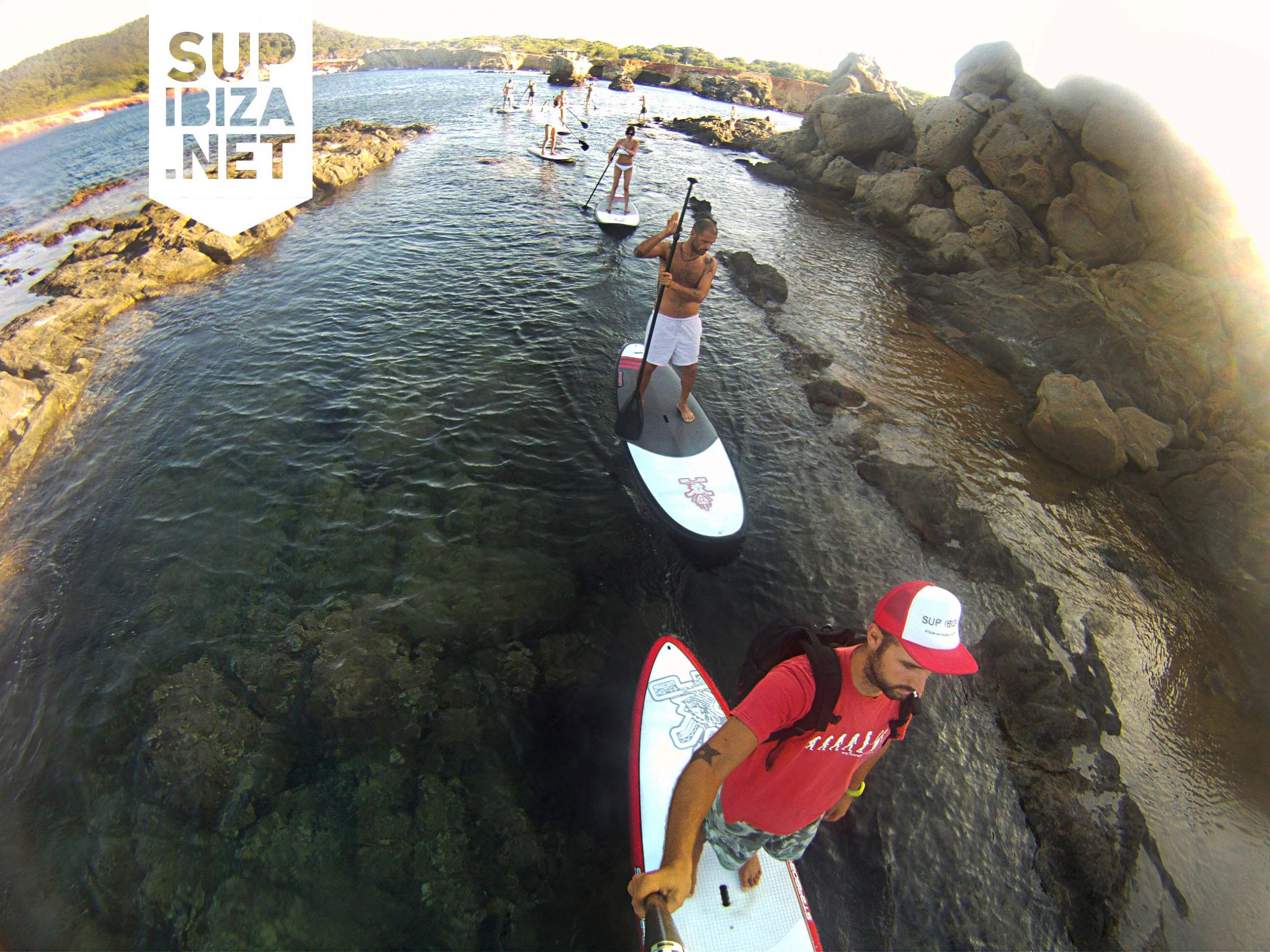 Paddle surf in the north of Ibiza
