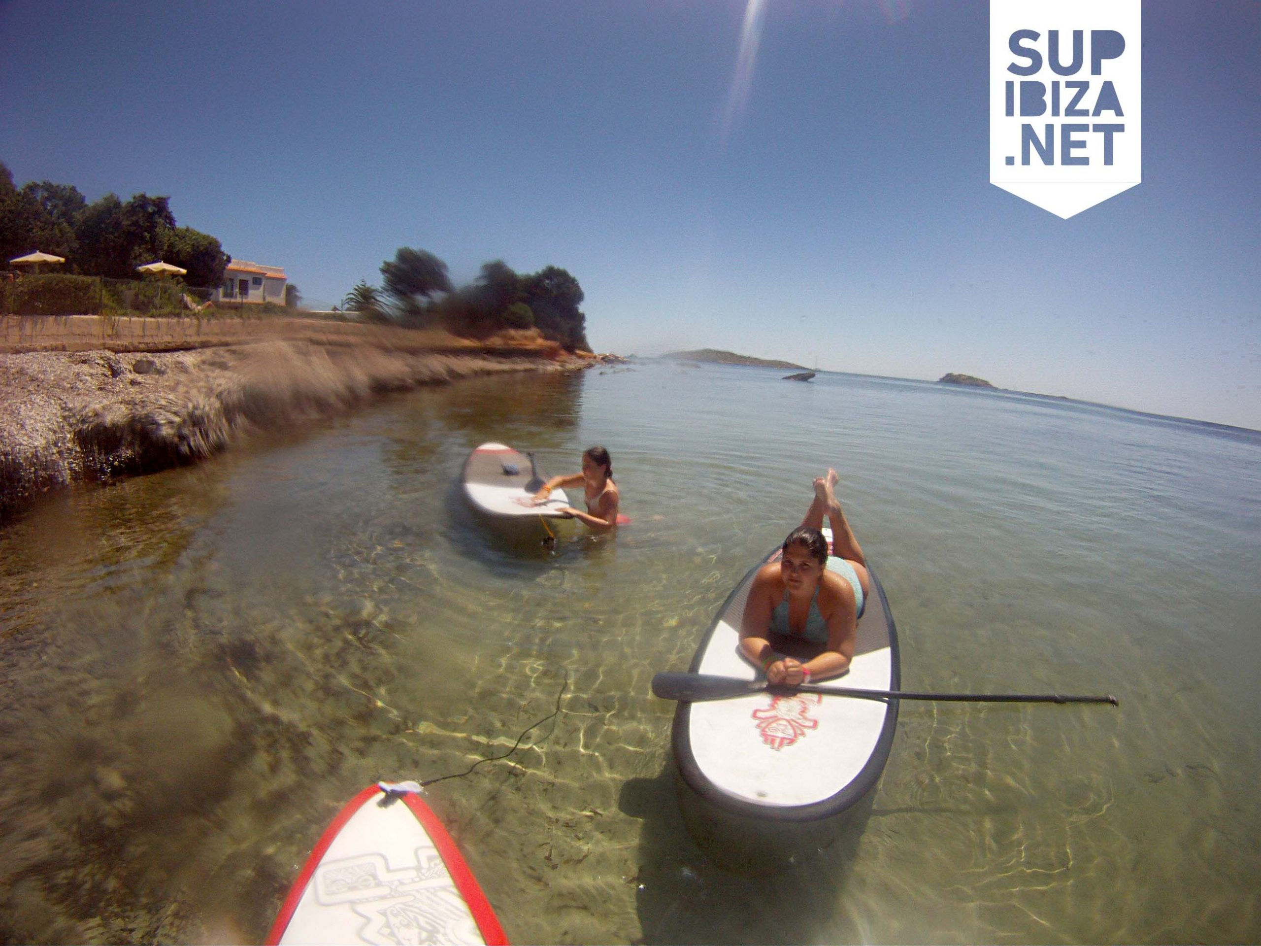 Paddle surf in the east coast of Ibiza